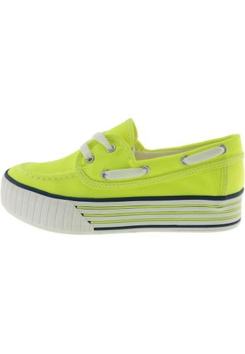 Maxstar 綠色 新款韩国鞋C30-Boat時尚帆布布混合女綠色 US Women Size MA345SH60HCLTW_1