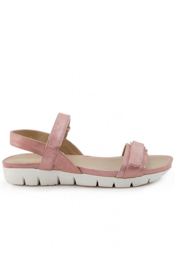Shu Talk pink Suede Leather Comfy Sandals Shoes SH617SH2USE4HK_1