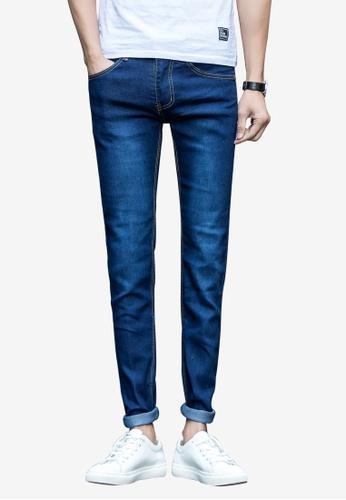 hk-ehunter blue Denim Jeans for Men 74B8CAAB1D5123GS_1