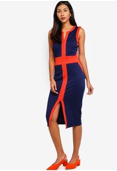 c5ac47f0535 15% OFF ZALORA BASICS Basic Panel Detail Fitted Dress RM 119.00 NOW RM  100.90 Sizes XS S M L XL