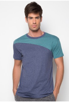 Round Neck Two-Colored Shirt