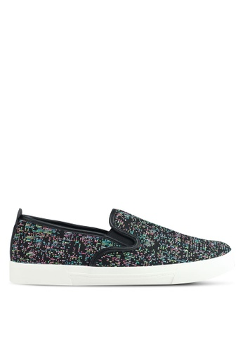Call It Spring black Ocelle Slip Ons C4F7CSH52FD3CAGS_1