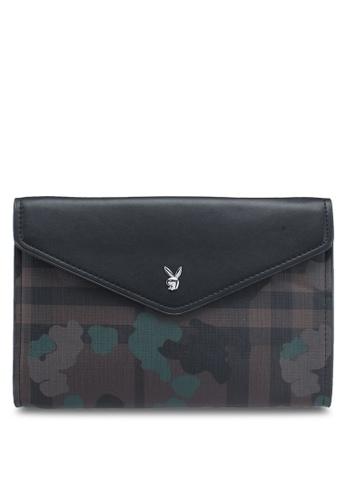 Playboy brown Playboy Clutch Bag 654E7AC044D66AGS_1