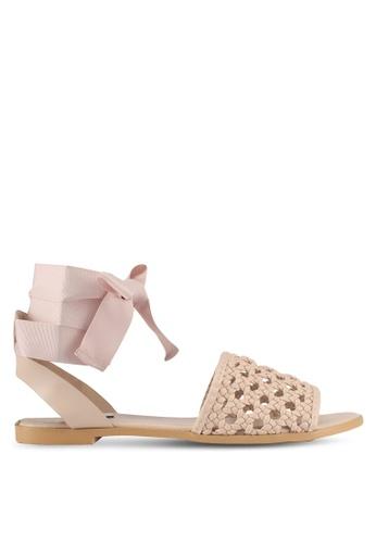 ZALORA beige Braided Sandals C13EESH5FB96DAGS_1