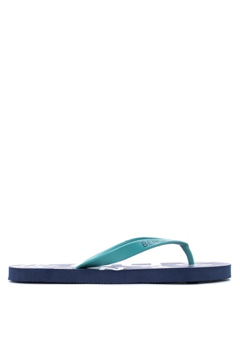 BENCH blue Printed Rubber Slippers BE550SH88MBZPH_1