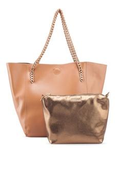 57c5e6e3e63 VINCCI brown Chain Strap Shoulder Bag 357C4AC99C1E96GS 1