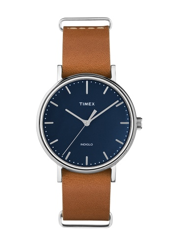 TIMEX black and brown Timex Weekender™ Fairfield 37mm - TW2P98300 TI205AC0RETGMY_1