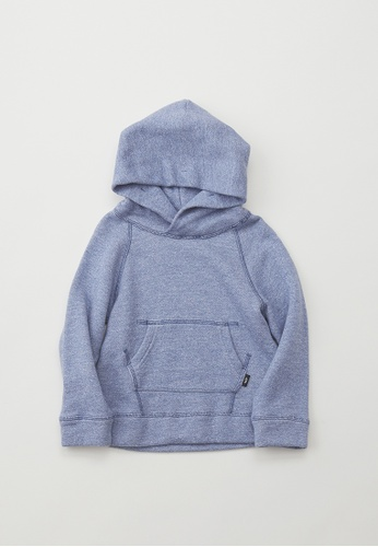 HÄP & CRAFT blue Smile Cotton fleece-lined hoodie 8B236KA77EE8FAGS_1