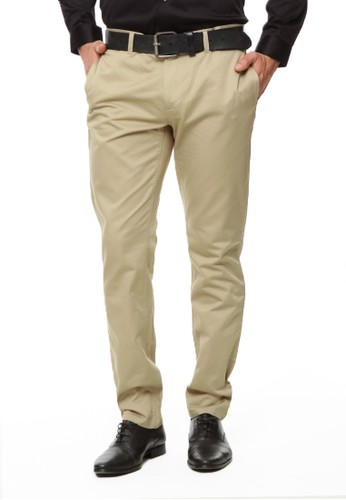 The Executive brown Slim Fit Long Pants 53FE4AAEE4A1B4GS_1