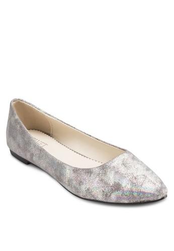 Katlyn 金屬感平底鞋, 女鞋esprit outlet 台灣, 芭蕾平底鞋