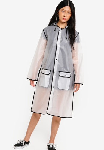 Something Borrowed white Contrast Binding Rain Jacket BE130AA69EE6C8GS_1