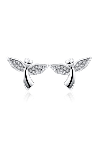 86552cdce Kings Collection silver Sterling Silver Plated Guardian Angel Earrings  F0AF2ACD87CAEFGS_1