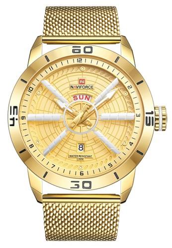 Naviforce gold Naviforce - Jam Tangan Pria - Gold - Stainless Steel Bracelet - NF9155-C B7DE1ACCA650E7GS_1