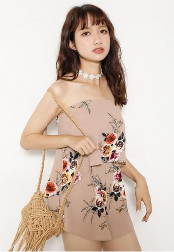 Shopsfashion beige Sweetheart Jumpsuit in Beige SH656AA71QAYSG_1