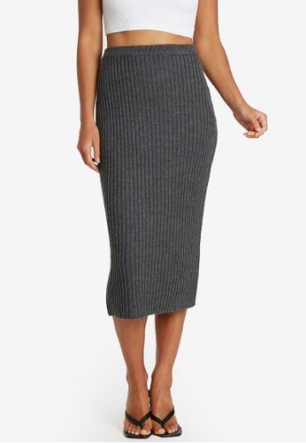 Calli grey Etta Knit Skirt 5D5D2AAB154514GS_1