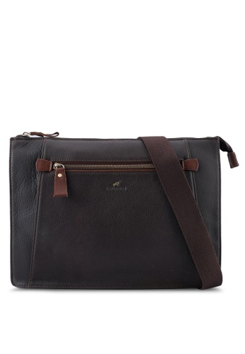 RAV Design brown Leather Envolope Clutch RA113AC0SJA0MY_1