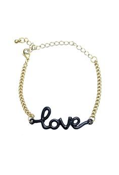 Script Love Bracelet