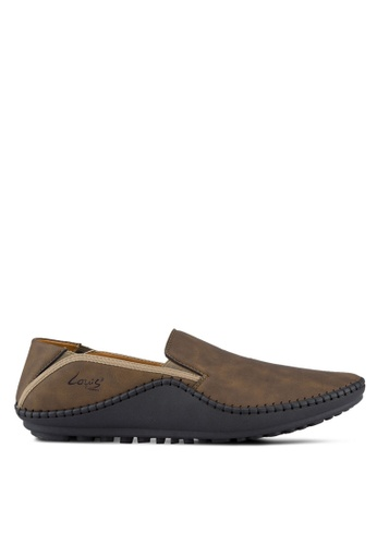 Louis Cuppers brown Stitched Loafers LO977SH45RCOMY_1