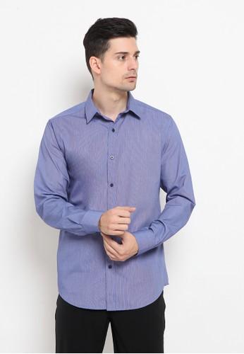A & D blue A&D Ms 1430 Men Shirt L/s CDE83AA8D214D8GS_1