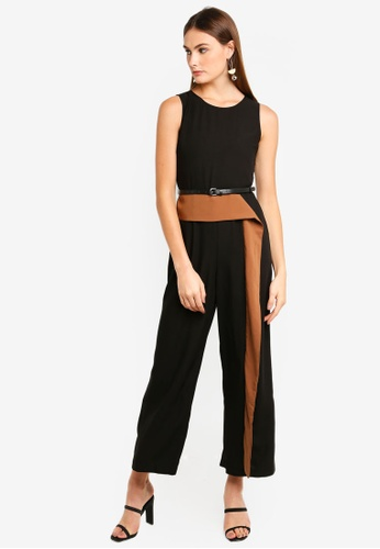 9baebc5d8a7 Buy bYSI Structured Contrast Jumpsuit Online on ZALORA Singapore