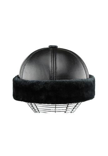 Kings Collection black Black Cowhide Fur Miki Hat (KCHT2017) E0351AC5C124F1GS_1
