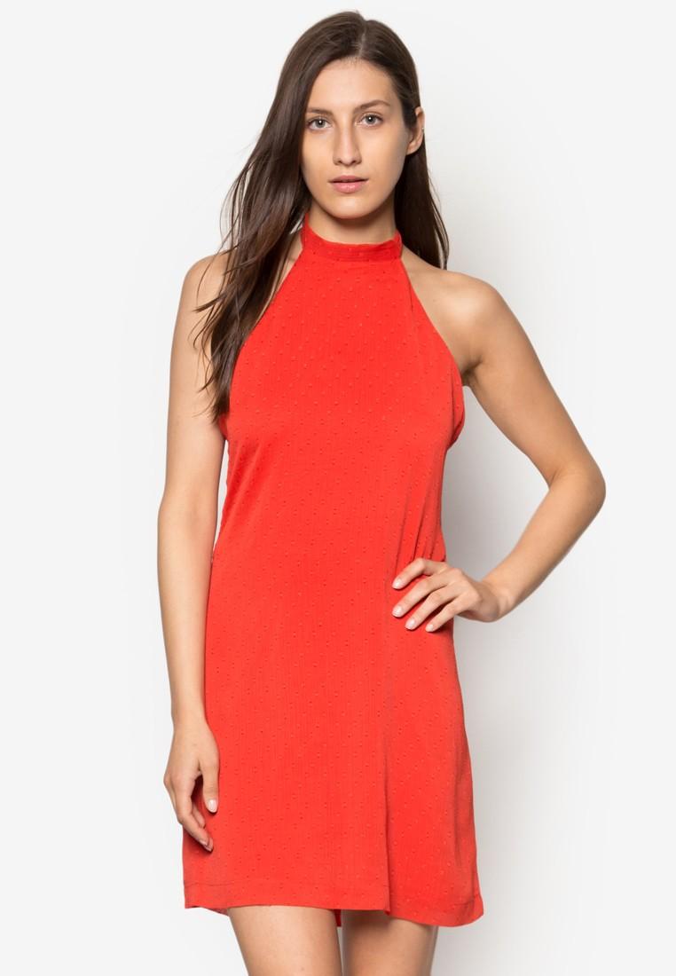Polka-Dot Textured Dress