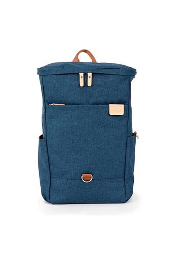 Harvest Label blue Harvest Label Pocket Backpack - Navy 78D41AC3DA5851GS_1