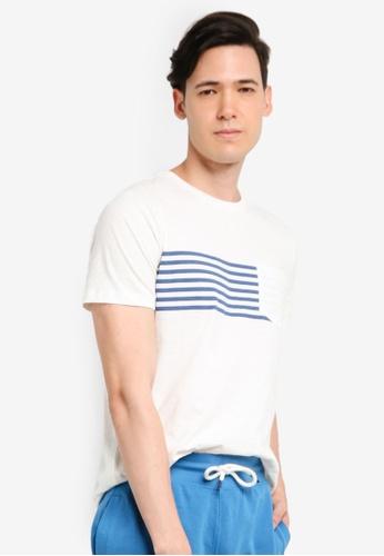 OVS 白色 口袋T恤 04F3CAAE57E8A8GS_1