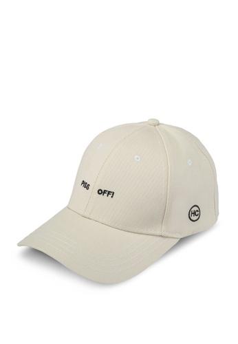 High Cultured white and beige Casual Cap HI002AC0SPCEMY_1