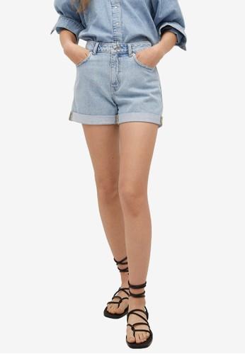 Mango blue Mom-Fit Denim Shorts A68F9AAAD93499GS_1
