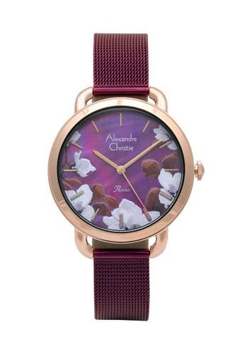 Alexandre Christie purple Alexandre Christie Jam Tangan Wanita - Purple Rosegold - Stainless Steel - 2852 LHBRDME 4CA3BAC34982A2GS_1