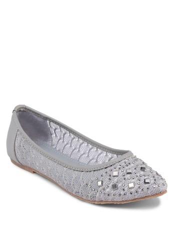 閃esprit hk飾尖頭平底鞋, 女鞋, 鞋