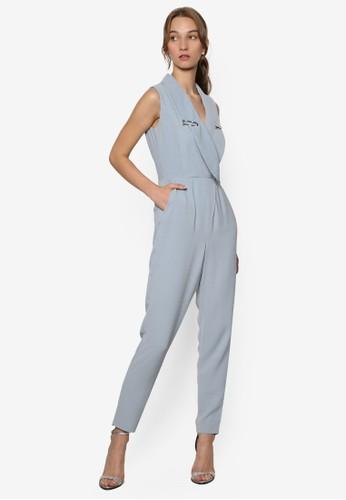 標籤邊esprit 品牌飾領口無袖連身長褲, 服飾, 服飾