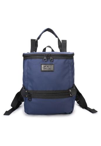 DUSTY blue Twin-Bucket backpack(S) 61C96AC740C418GS_1