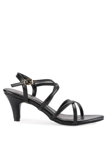 0bb9436fd22 Shoecrime black Mia Strappy Heels 5C037SHB36F1B7GS 1