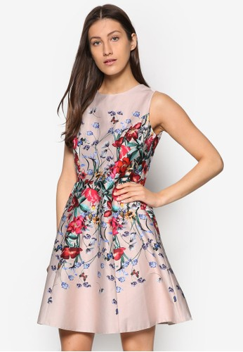 Petite 花卉修esprit台灣門市身傘擺洋裝, 韓系時尚, 梳妝