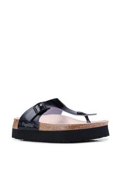 bf13e68478b Birkenstock Gizeh Platform Birko-Flor Sandals RM 349.00. Sizes 35 36 37
