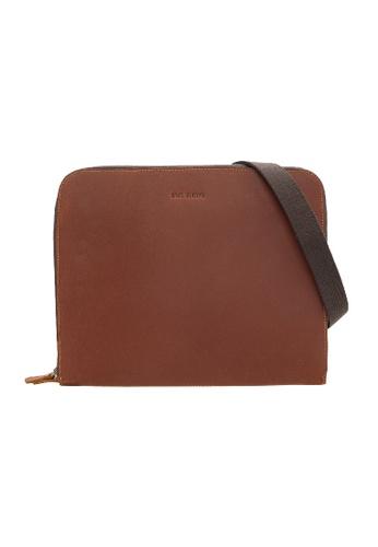 Jack Studio brown Jack Studio Genuine Leather Hand Carry Clutch Bag 40336AC55ACA55GS_1