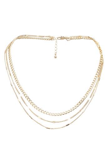 Pieces gold Folola Combi Necklace E4581AC025064BGS_1