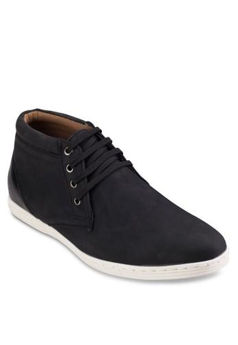 四眼繫帶仿esprit暢貨中心皮低筒靴, 鞋, 鞋