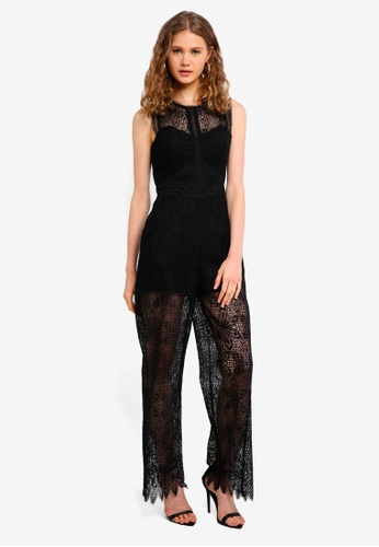 Forever New black Gloria Lace Jumpsuit 5711FAAE454A8AGS_1