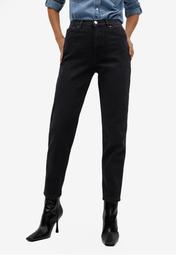 Mango 灰色 Mom-Fit Jeans A3A6CAADB0805EGS_1
