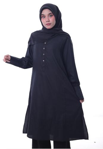 Denai Boutique black Tunic Jasmine Top DCFEBAAE1F9E1CGS_1