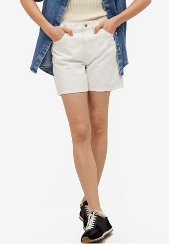 Mango white Straight Denim Shorts 71581AAE0D2C45GS_1