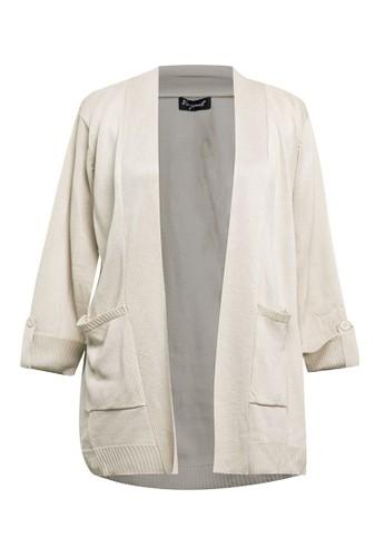 VOYANT BY MEGUMI beige Plain Cardigan Ringgo Pocket D24AEAAEE335B1GS_1