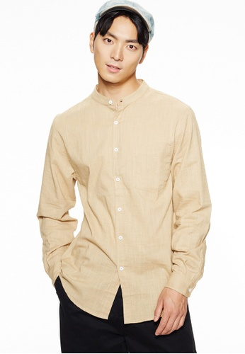 Life8 brown Casual Cooling Shirts -10090-Khaki C1880AAB2D726DGS_1