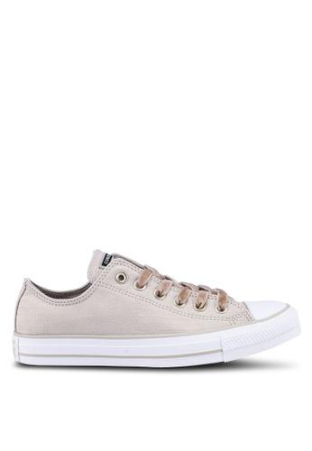 79fd10337915 Converse beige Chuck Taylor All Star Gator Velvet Ox Sneakers  C9892SH343A859GS 1