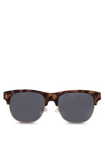 豹esprit招聘紋半粗方框太陽眼鏡, 飾品配件, 飾品配件