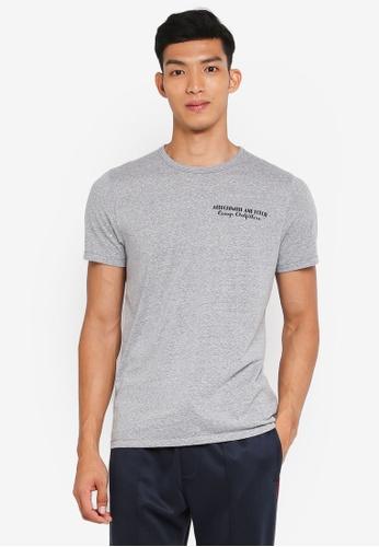 Abercrombie & Fitch grey Brand Logo T-Shirt EA21CAA1DF4EB2GS_1