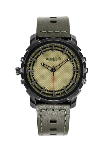 Assassin's Time green Assassin's Time ALMEC Army Green Leather EAE1DACCA1B0CEGS_1